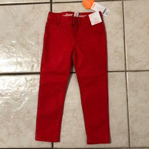 NEW Gymboree Super Skinny Orange Pants Girls Sz 5